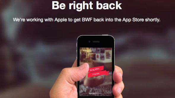 Apple's hook up with Bang With Friends is over
