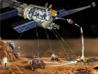 Mars Telepresence Illustration