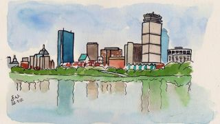 Boston water color