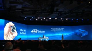 Intel Edison is launched during Intel's keynote