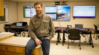 Tom Vestal, GIS specialist, Nez Perce County, is in complete control of the facility's new AV-over-IP system, which does not require vendor assistance to make changes or install new devices.