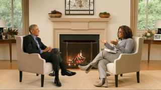 President Barack Obama and Oprah Winfrey, not actually in the same room.