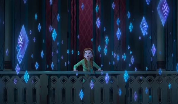 Frozen II anna with crystals