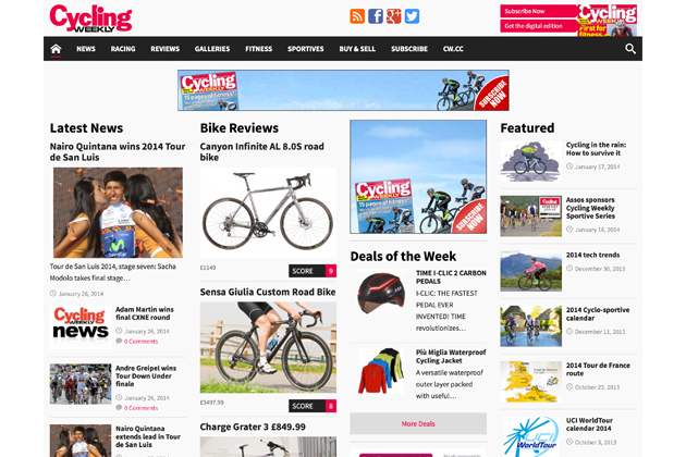 Cycling Weekly website