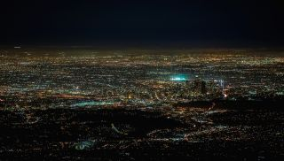 Light Pollution over Los Angeles