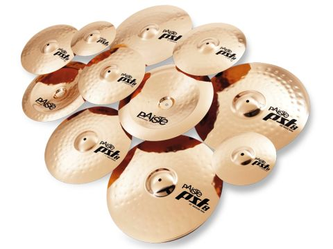 PST8 cymbals are punched from rolled sheets of bronze but the alloy is the same as that used in Paiste's 2002s.