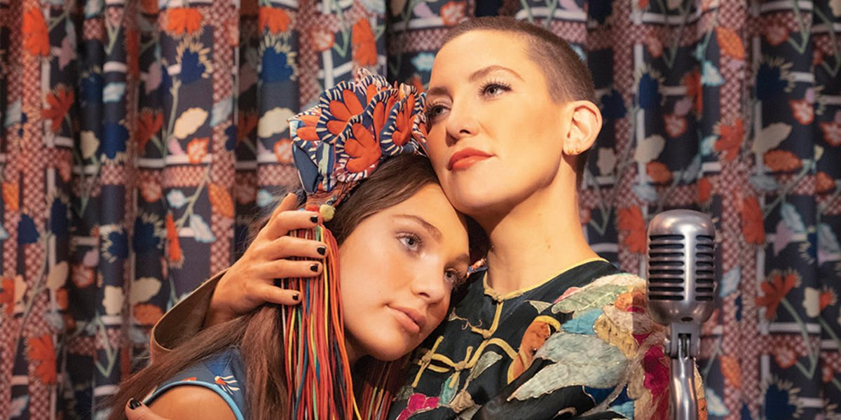 Music Maddie Ziegler and Kate Hudson stand in a familial embrace