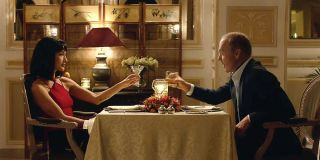Maggie Q and Michael Keaton in The Protege