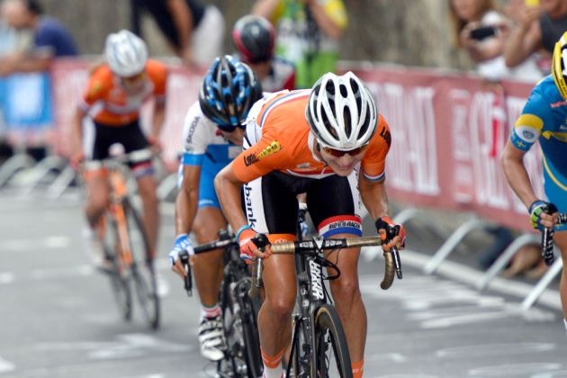 Marianne Vos attacks, Women's road race, World Champs 2013