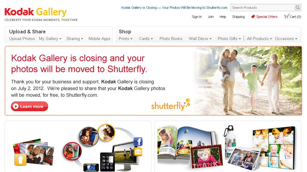 Kodak Gallery sells to Shutterfly | TechRadar