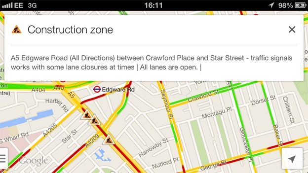 Google Maps On Ios And Android Updated With Waze Live Reports T3