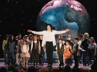 Michael Jackson performing at The World Music Awards in 1996.