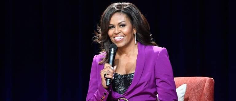 Former First Lady Michelle Obama attends 'Becoming: An Intimate Conversation with Michelle Obama' at State Farm Arena