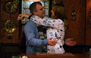 Steve McDonald with Tracy in Coronation Street