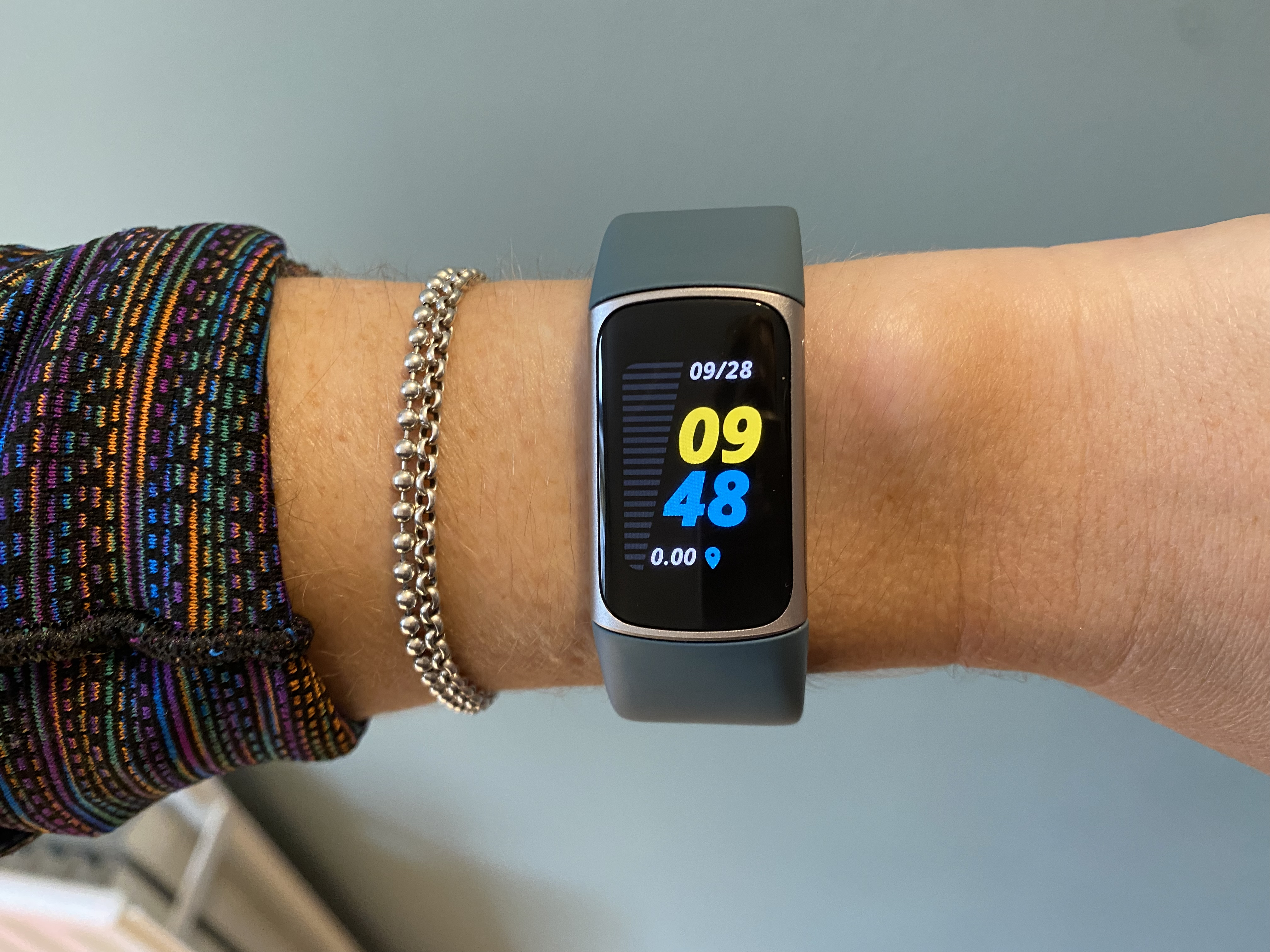 The Fitbit Charge 5 on the wrist