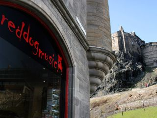 Red Dog Music situated in the shadow of Edinburgh Castle