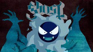 Gastly Pokemon on Ghost album sleeve