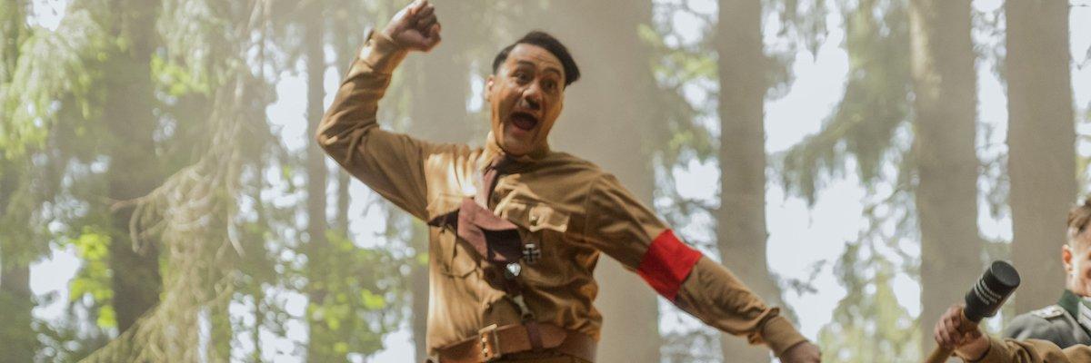 Hitler jumping in Jojo Rabbit