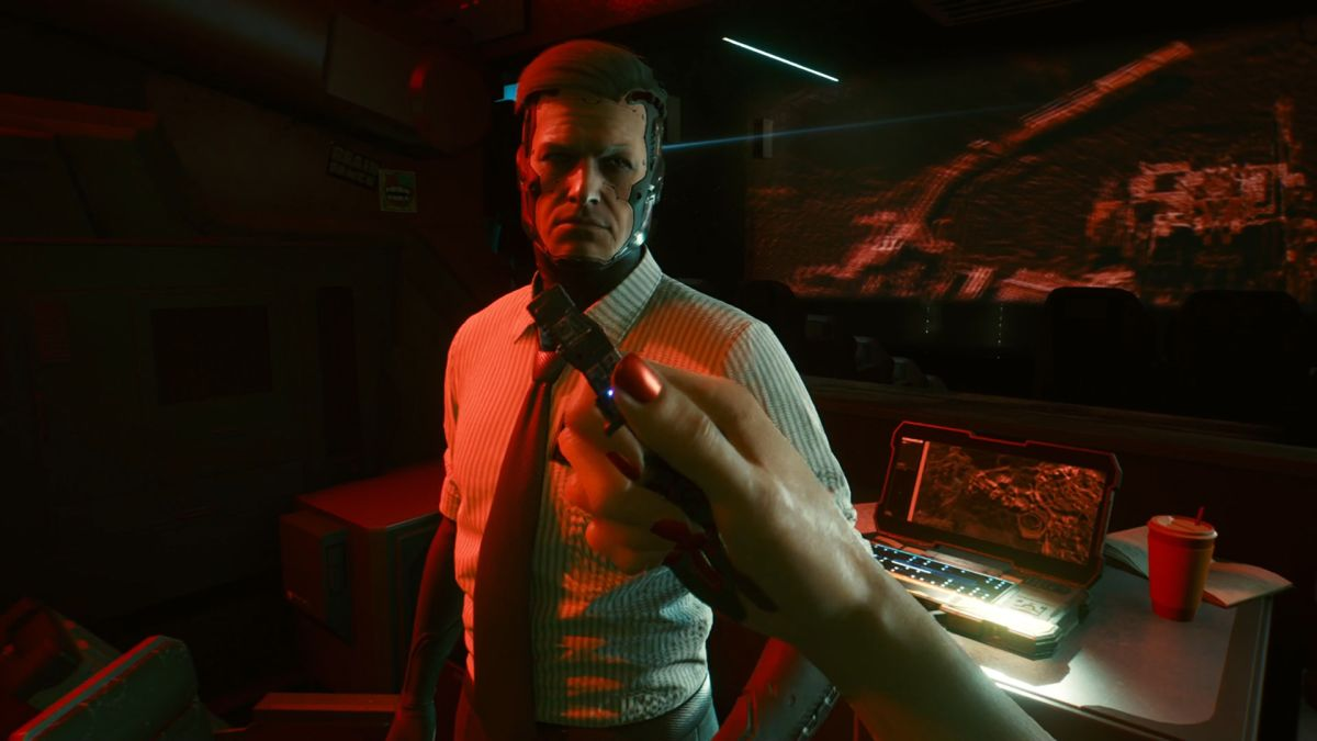 Cyberpunk 2077 NetWatch Agent: Should you incapacitate him or let him take the data?