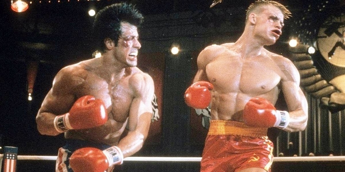Rocky IV, Sylvester Stallone and Dolph Lundgren