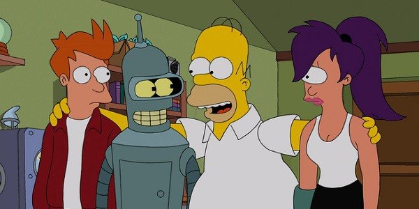 Fry, Bender, Homer and Leela represent the best of Matt Groening