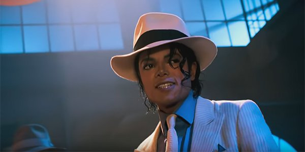 Michael Jackson in the Smooth Criminal music video