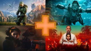 Images from new games: clockwise from top left - Halo Infinite, Horizon Forbidden West, Far Cry 6, and Deathloop