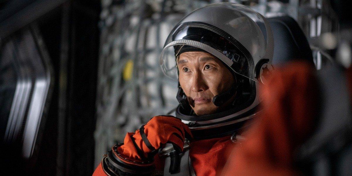 Daniel Dae Kim in astronaut gear in Stowaway