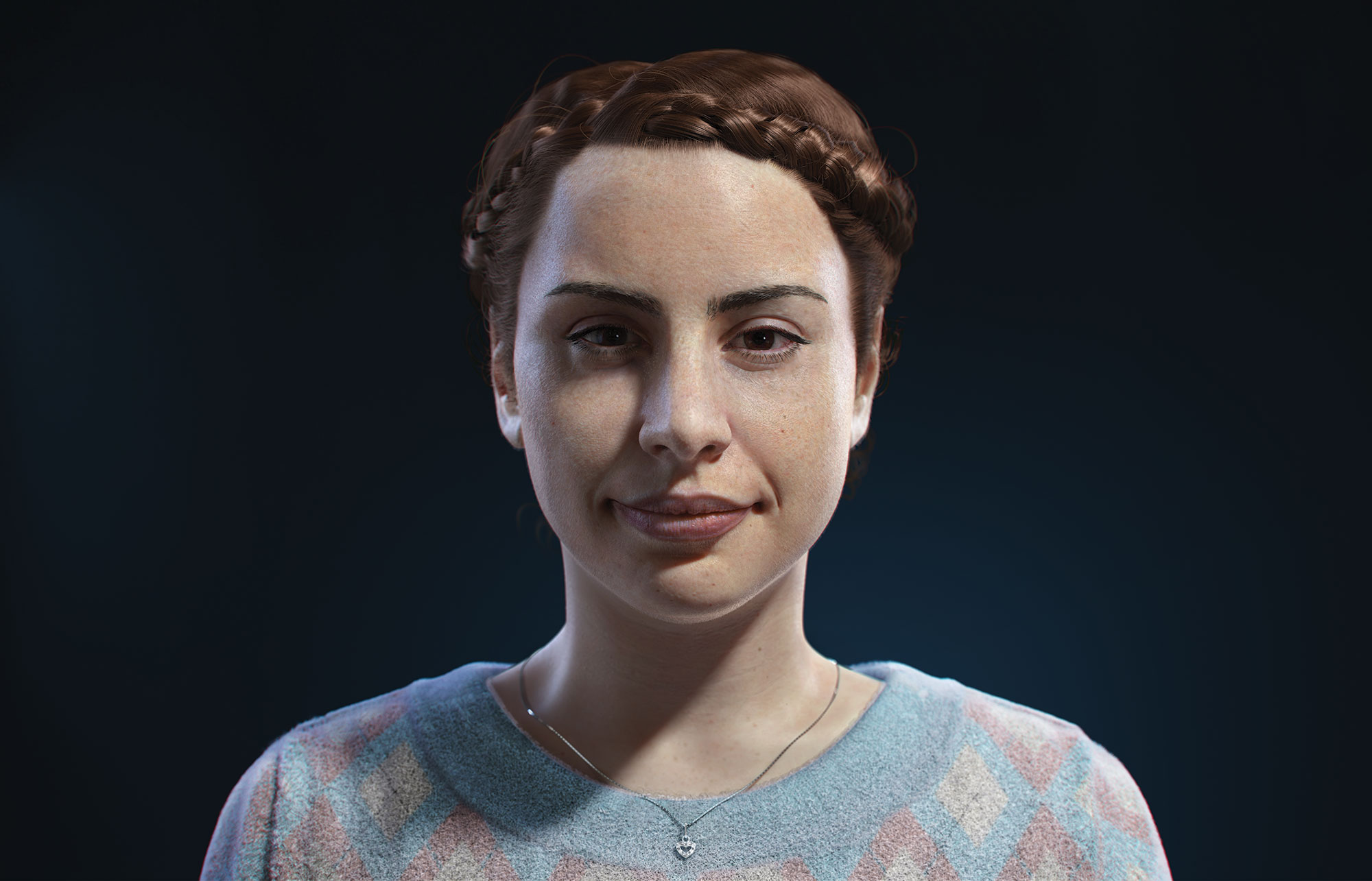 Realistic 3D portrait of a woman by João Victor Ferreira