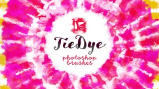 Photoshop brushes: tie-dyed photoshop brush pack