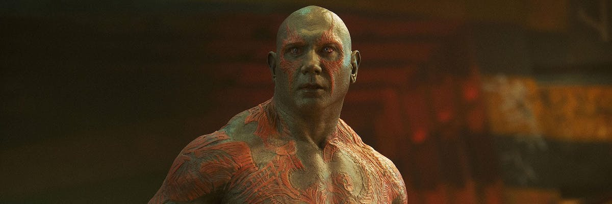 Dave Bautista's Drax the Destroyer in Guardians of the Galaxy