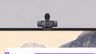 Logitech C920s Pro HD Webcam attached to monitor