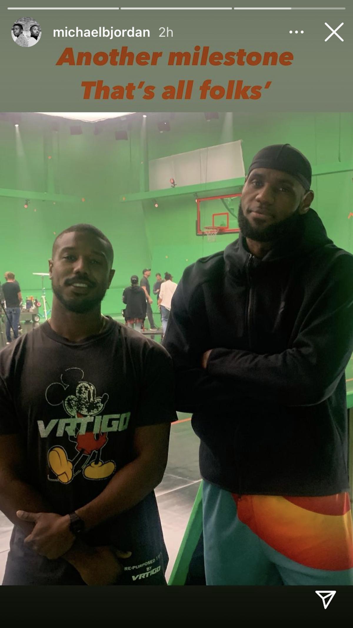 Michael B. Jordan and LeBron James