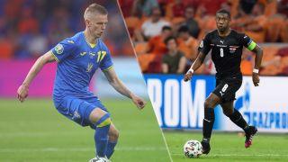 Ukraine vs Austria live stream at Euro 2020 — Oleksandr Zinchenko of Ukraine and David Alaba of Austria