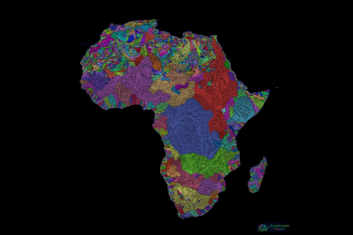 Rainbow Rivers: See Gorgeous Maps of the World\'s Waterways ...