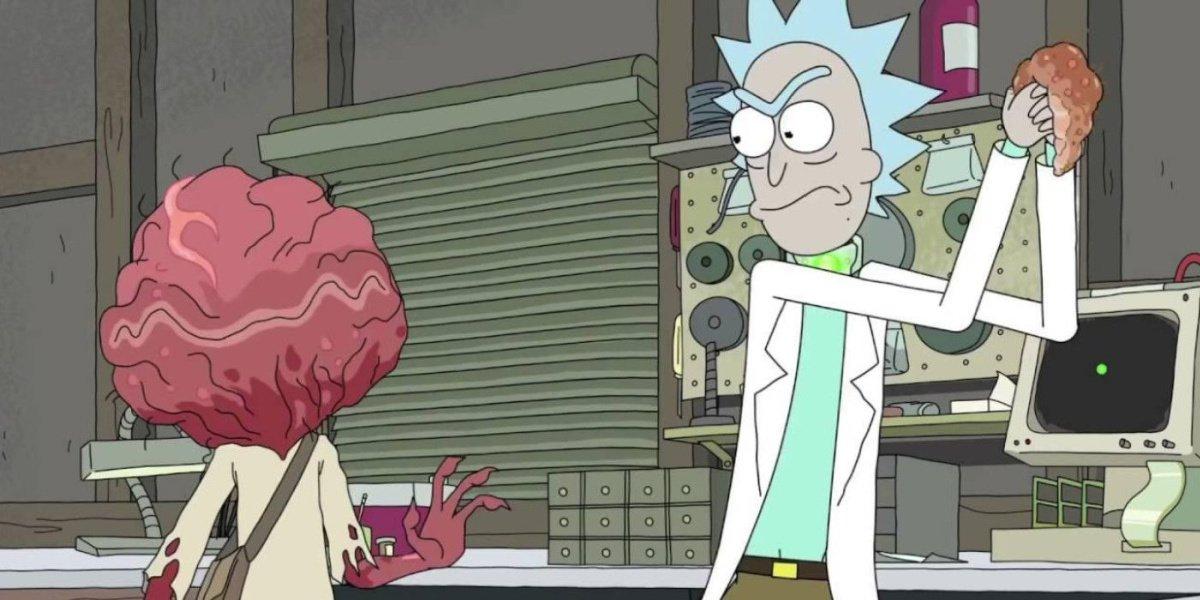 Keegan-Michael Key's character alongside Rick Sanchez in Rick and Morty.