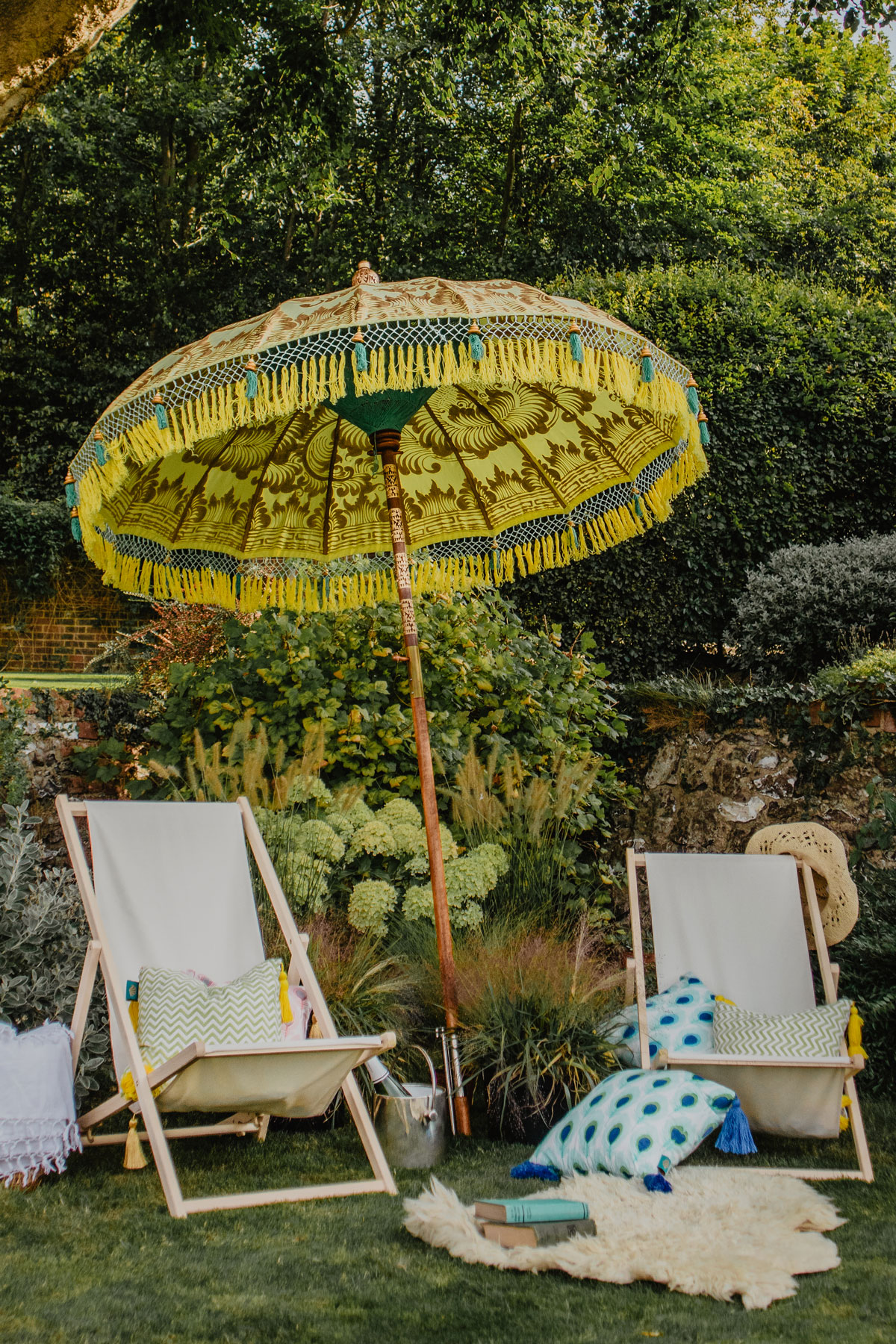 Step Into The Shade With A Colourful Garden Parasol