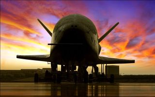Boeing's X-37B operates about 110 to 500 miles (160 to 800 kilometers) above the Earth at a speed of about 17,500 mph (28,200 km/h).