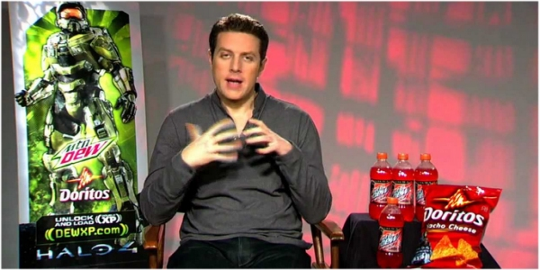 A Halo promotional campaign featuring Geoff Keighley