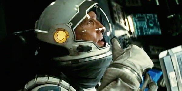 Matthew McConaughey in space suit interstellar