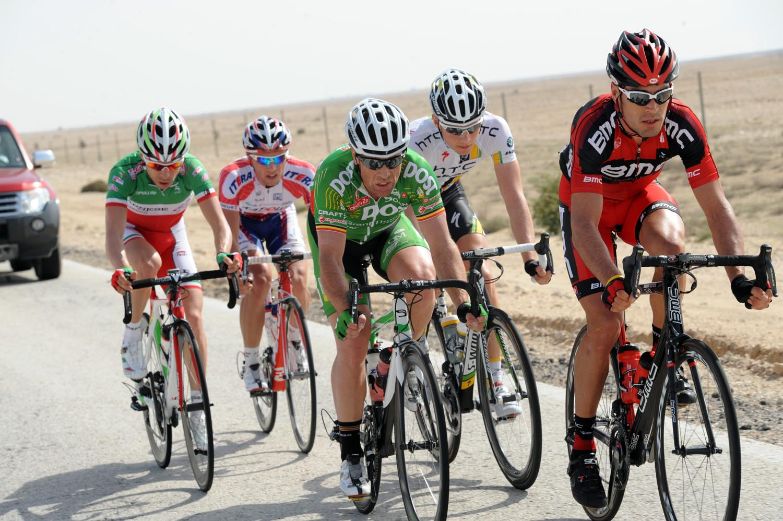 Manuel Quinziato escape, Tour of Qatar 2011, stage two