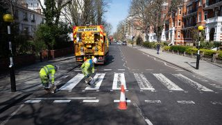 Highway Maintenance give the famous crossing a much-needed lick of paint