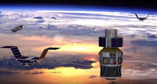 Cyclone Global Navigation Satellite System (CYGNSS) microsatellites will launch and deploy Dec. 12, 2016, to study the evolution of hurricanes and cyclones in Earth's tropical hurricane belt.
