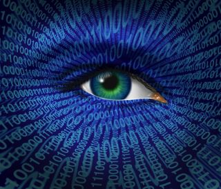 an eye watches from the internet