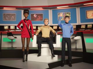 Star Trek Barbie Dolls: Uhura, Kirk and Spock