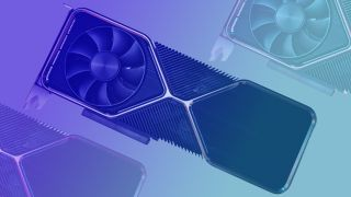Nvidia RTX 3080 Ti graphics card on blue gradient background