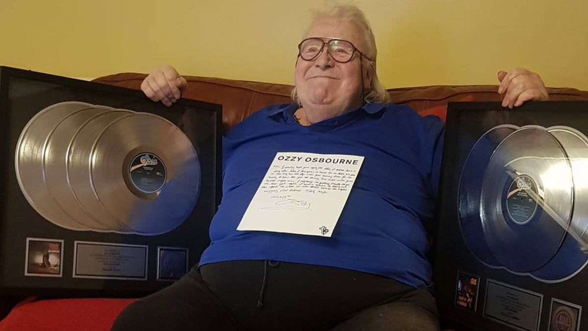 Terminally ill drummer Lee Kerslake receives platinum discs from Ozzy