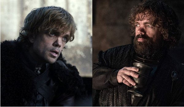 Game of Thrones Tyrion Lannister Then and Now