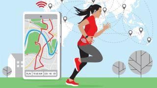 Virtual running event