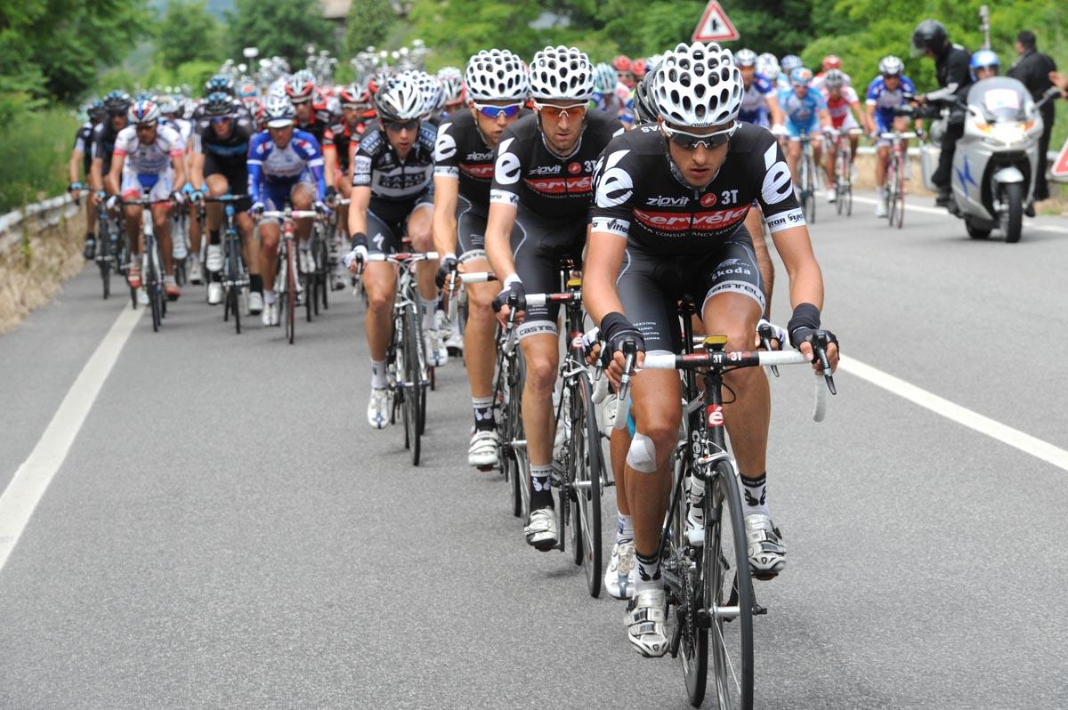 Edward King chases, Giro d'Italia 2010, stage 13